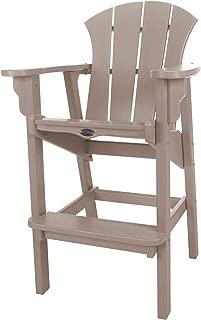 product image for Nags Head Hammocks Sunrise Bar Dining Chair, Weatherwood