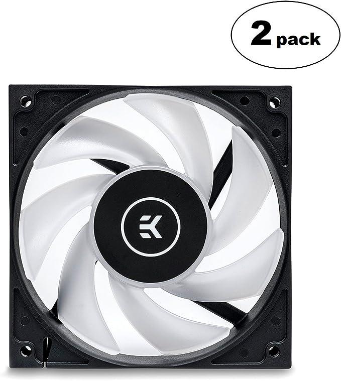 Amazon.com: EKWB EK-Vardar EVO 120ER RGB 120mm PWM Fan, 2200 RPM, Black, 2-Pack: Computers & Accessories
