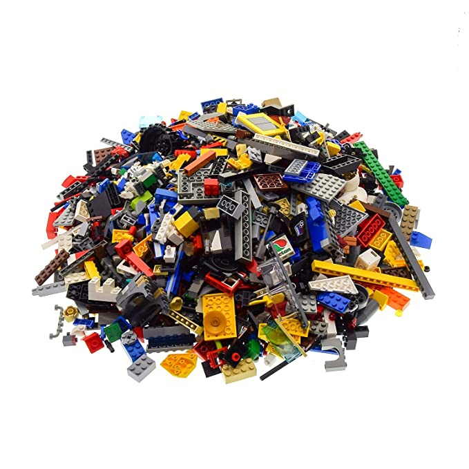 3 Kg Lego System Bau Basic Steine Kiloware zufällig gemischt z.B Räder Platten