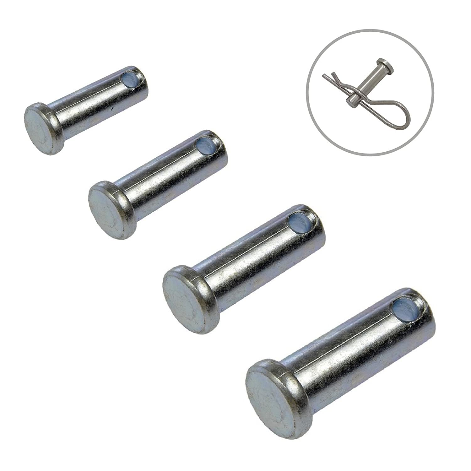 2 x Clevis Pins Metric M4 x 22mm Flat Headed Fasteners for Retaining Clips Home.smart