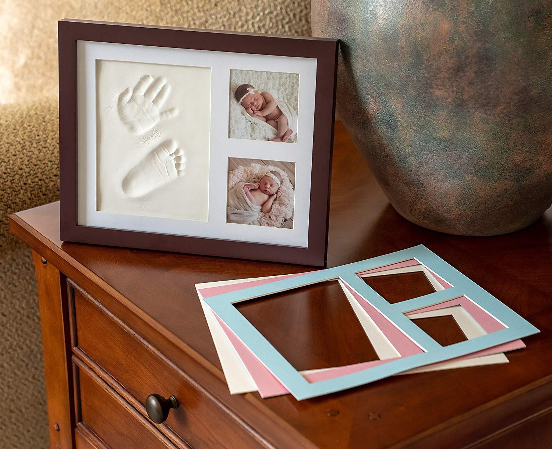 Marco para Fotos y Huellas de Bebé – Cuadro con Arcilla para Modelado de Manos y Pies de Niños y Niñas. Regalo Original para Nacimientos, Bautizos, ...