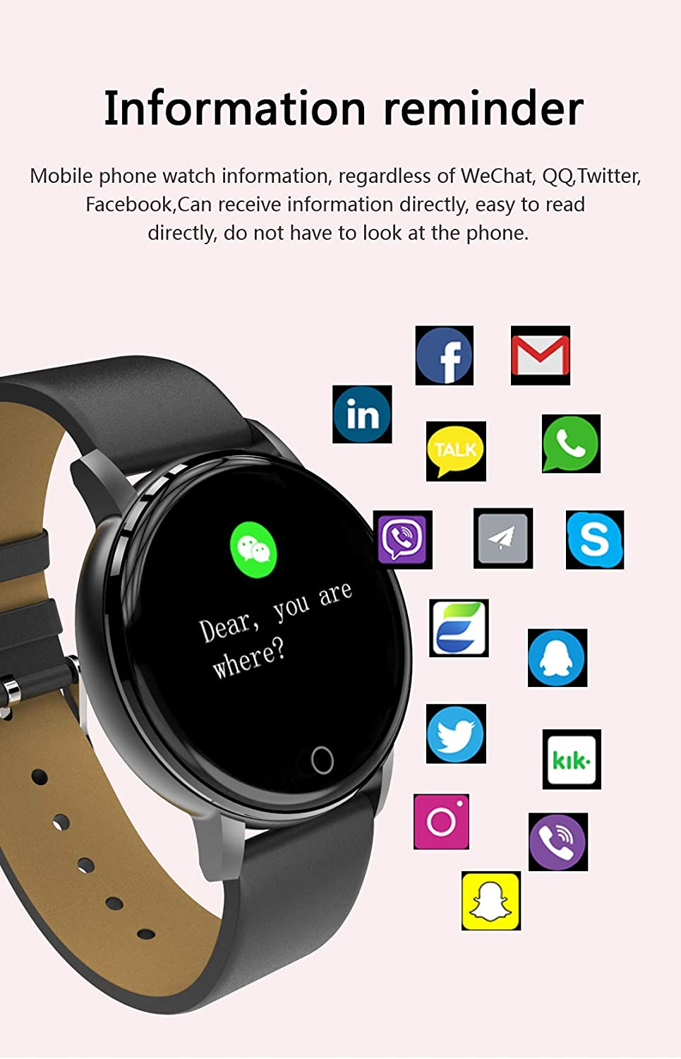 Smartwatch, PHIPUDS Reloj Inteligente Impermeable IP68 con ...