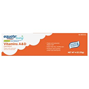 Equate Vitamins A & D Diaper Rash Ointment & Skin Protectant, 4 oz