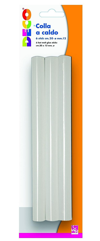 DECO T705A Stick Colla a Caldo Blister 6 Pezzi CWR