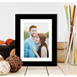 Painting Mantra Synthetic Wall/Table Photo Frame (6 inches x 8 inches, Matted to 4 Inches x 6 Inches, Black)