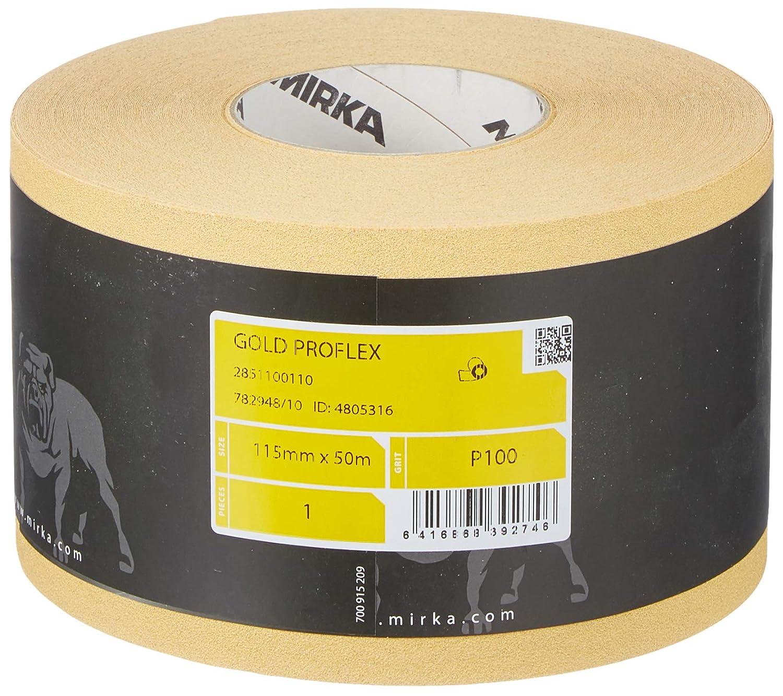 Mirka 2851100110 Oro Proflex Rotolo P100, 115 mm x 50 m 115mm x 50m