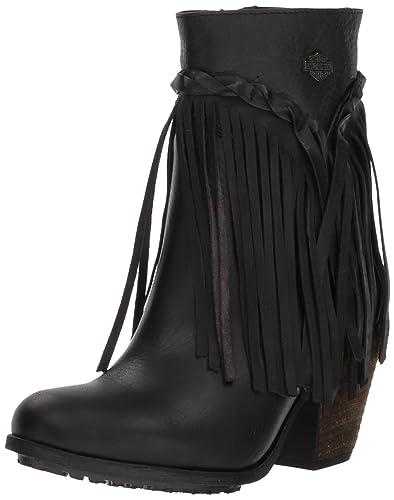 17d87a2eb390 Harley-Davidson Women s Retta 6-Inch Stacked Heel Booties D83985 (Black