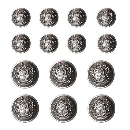YaHoGa 14 Piezas Antiksilber Botones Metalicos 20mm 15mm Botones para Trajes Chaquetas Abrigos Uniforme