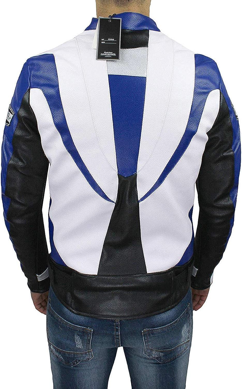 Chaqueta de Moto para Hombre Tecnica ManS Jacket de Piel sint/ética Devil