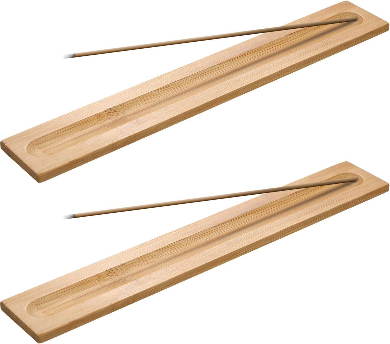 5 Piezas de Porta-Incienso de Madera Bambú Quemador de Incienso, 9,06 Pulgadas de Largo (Color de Madera)