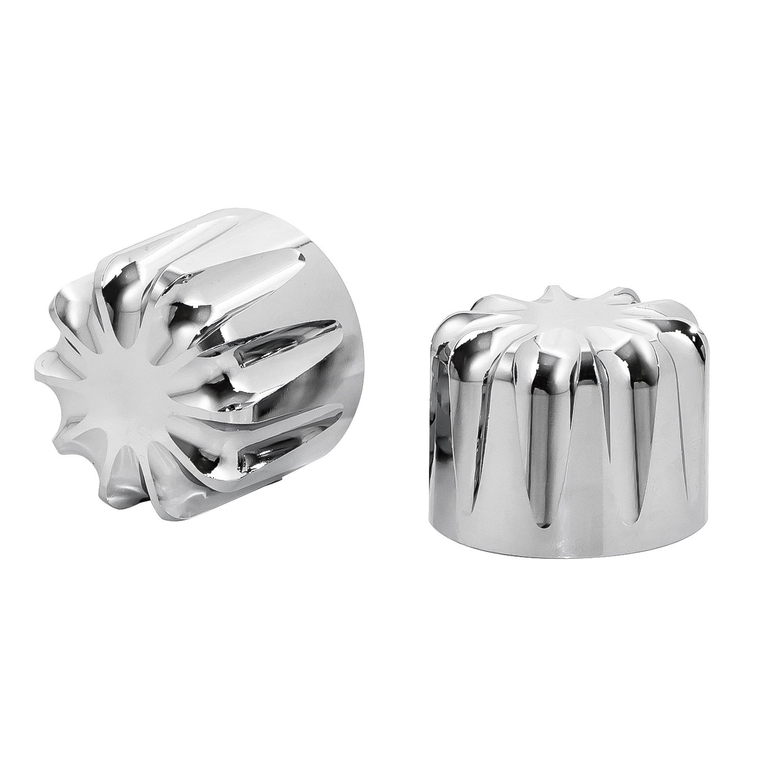 Senkauto Front Axle Cap Nut Cover For Harley Sportster Touring Dyna Touring Softail Electra Street Glide (Chrome 01) by Senkauto (Image #2)