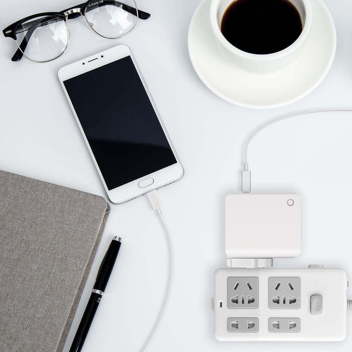 SAWAKE Chargeur Secteur USB 3 Ports Prise de Chargeur Universel 5V/ 3.4A Mural pour iPhone X/8/8 Plus, iPod, iPad Air/Pro, Samsung, HTC, LG, Huawei, Nexus, Honor, Sony et Les Autres Smartphones