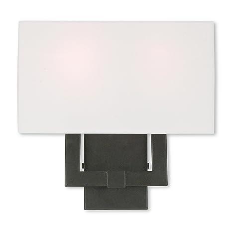 Amazon.com: livex iluminación hollborn 51103 – 07 – Aplique ...