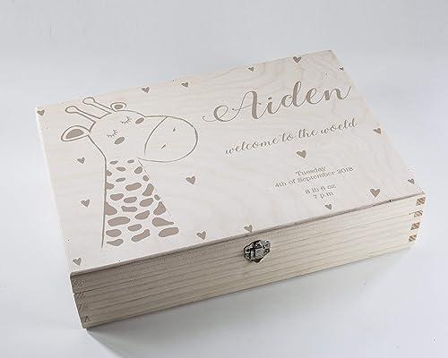 New born baby Personalised gift customised keepsake heart gift any message name