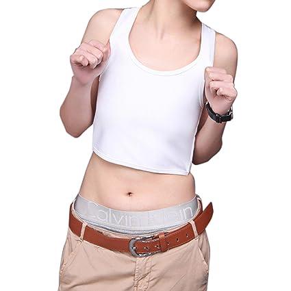 ZEARO Atmungsaktive kurz Cosplay Brust Binder Trans Tank Top Korsetts T-Shirt Hemd Bluse