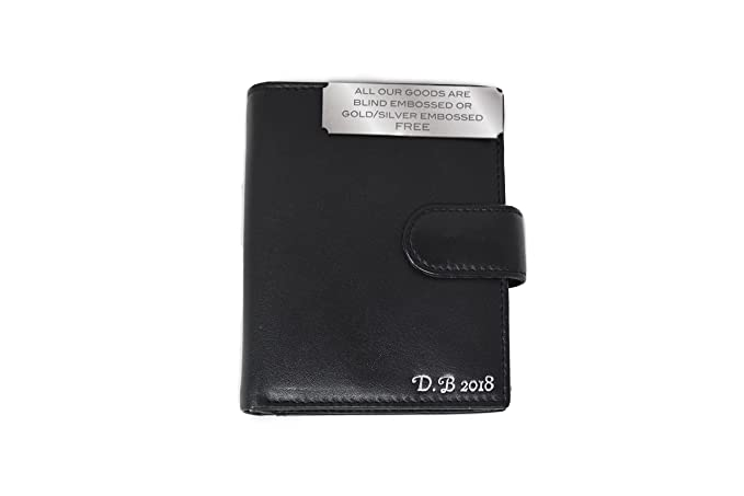 d38ac14a274b Personalised men s leather wallet  Amazon.co.uk  Luggage