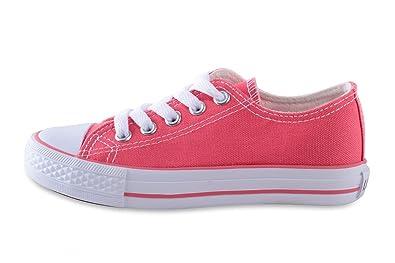 12dc2d7e5580b Mixmatch24 Basket Enfant unisexe en toile Chaussures basse  agrave  lacets  en plusieurs couleurs Pointures 30 ndash