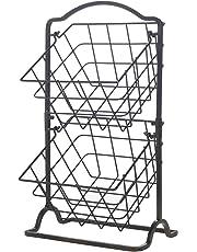 Gourmet Basics–por Mikasa 5217596Organización cesta, color negro