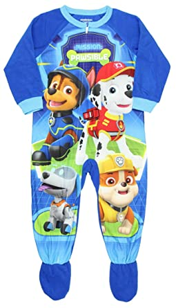 7bccb8a89 Amazon.com  Paw Patrol Toddler Boys Footed Pajamas Blanket Sleeper ...