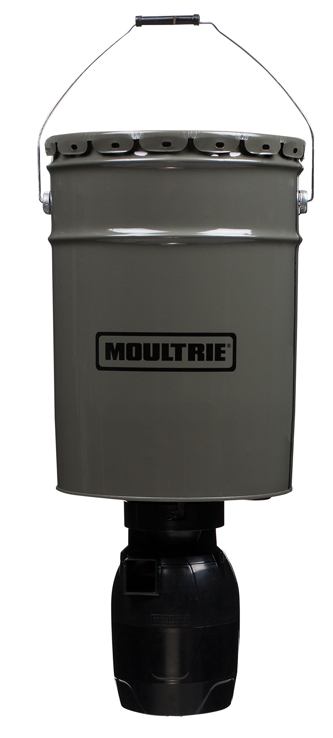 Moultrie Hanging Directional Feeder | 6.5-Gallon | Programmable Timer | Agitating Spinner Plate