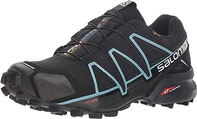 Salomon Femme Speedcross 4 GTX, BlackBlackMetallic Bubble Blue, SynthétiqueTextile, Chaussures de Course à Pied et Trail running, Taille 36 KGDko