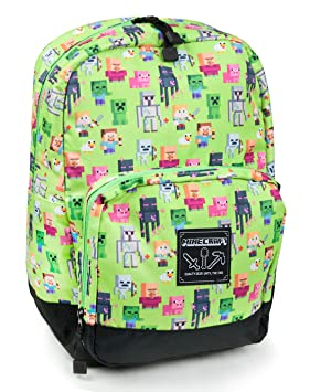 Minecraft Steve Overworld Sprites Backpack  Amazon.co.uk  Luggage 3014f5a54312f
