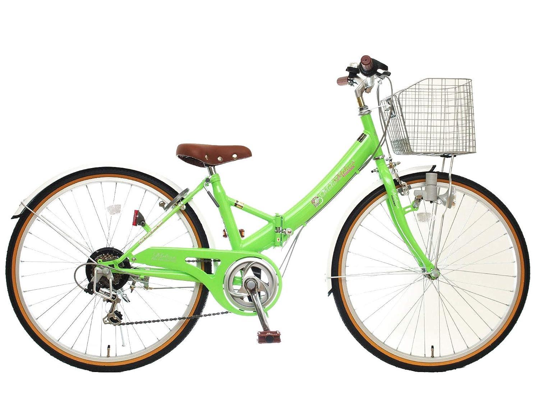 24インチ メリッサS 6段変速 ブロックライト 組み立て式 折りたたみ自転車   B07PPSS685