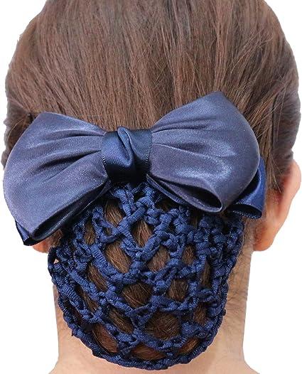 Hair Net Ribbon Bun Net Hair Bun for Ballet Dancer Gymnastics Horse Rider Bride