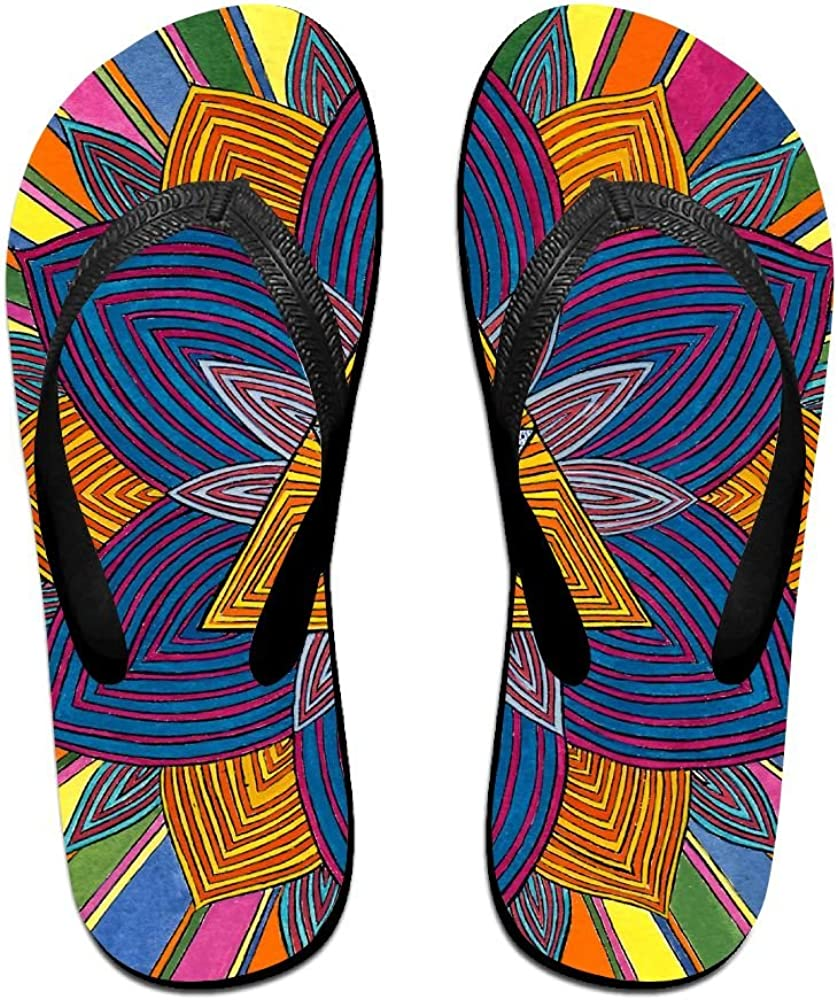 Unisex Summer Beach Slippers Eye Psychedelic Flip-Flop Flat Home Thong Sandal Shoes
