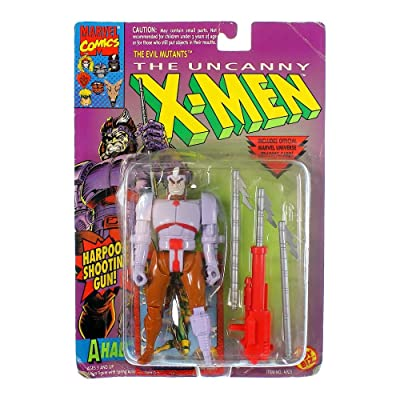"Evil Mutant 5"" Ahab Action Figure with Harpoon Shooting Gun! - The Uncanny X-Men: Toys & Games"