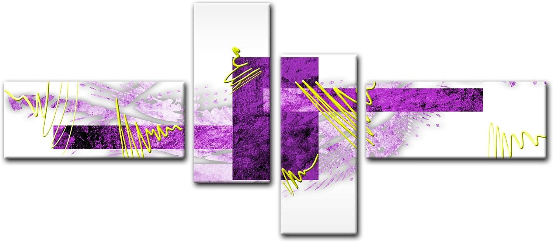 Bilderdepot24 Cuadros en Lienzo - Arte Abstracto Abstracto V Gris ...