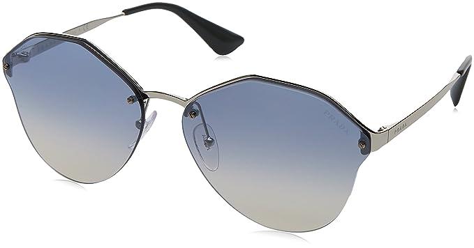 72f2ef347b89 ... buy prada womens cinema oval sunglasses silver light blue silver one  size 47d46 eda8c ...