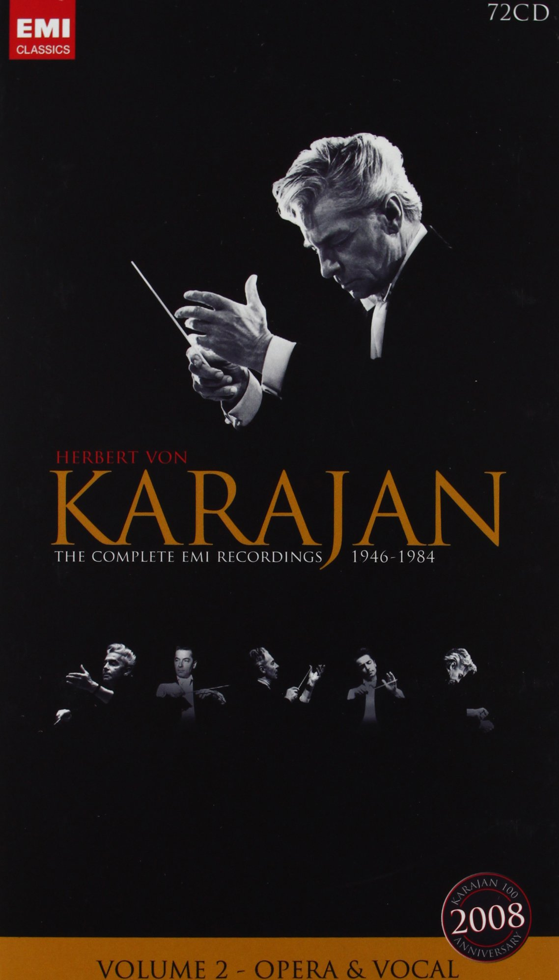 Karajan 100th - Volume 2, Opera and Vocals by EMI Classics