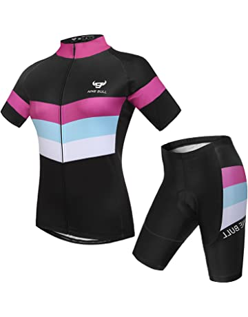 nine bull Cycling Jersey Short Sleeve Women MTB Bike Clothing Road Bicycle  Shirts Shorts Padded Pants 3f5817edd