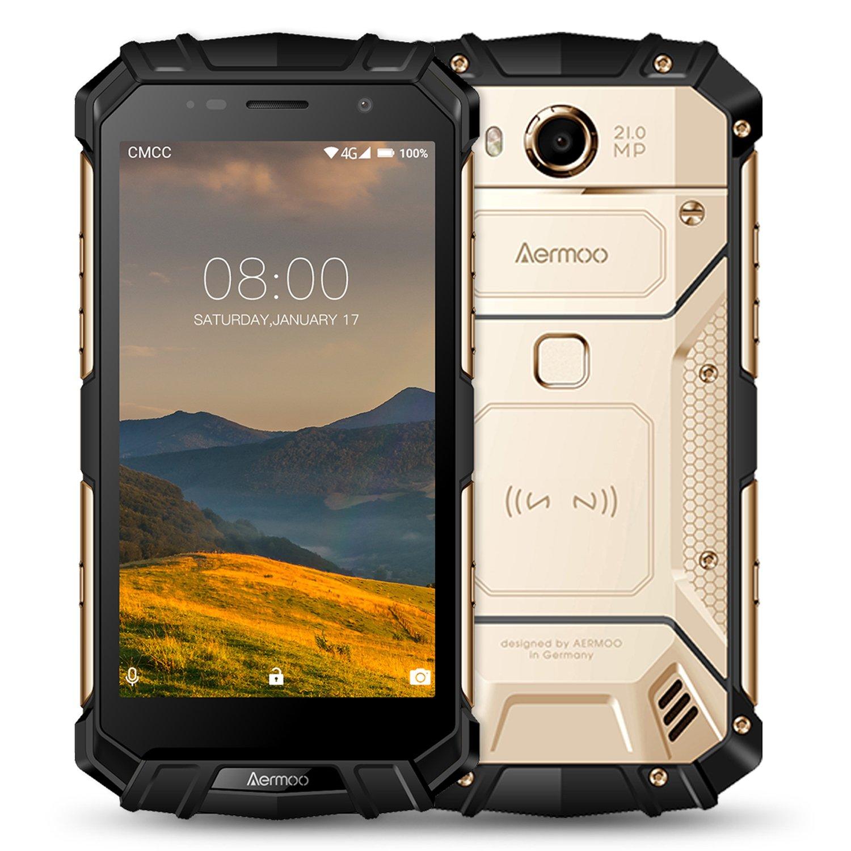 Outdoor Smartphone ohne Vertrag Aermoo M1 Dual SIM 4G Outdoor Handy Android 7 0 IP68 Wasserdicht Staubdicht und Stoßfest 5 2 FHD Robustes Smartphone