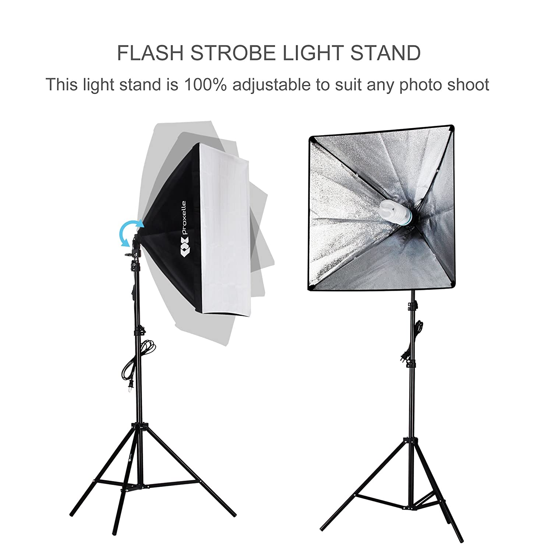 "Amazon.com : 700W Photography Softbox Studio Lighting Kit 24""X24 ... for Photography Lighting Equipment For Beginners  555kxo"