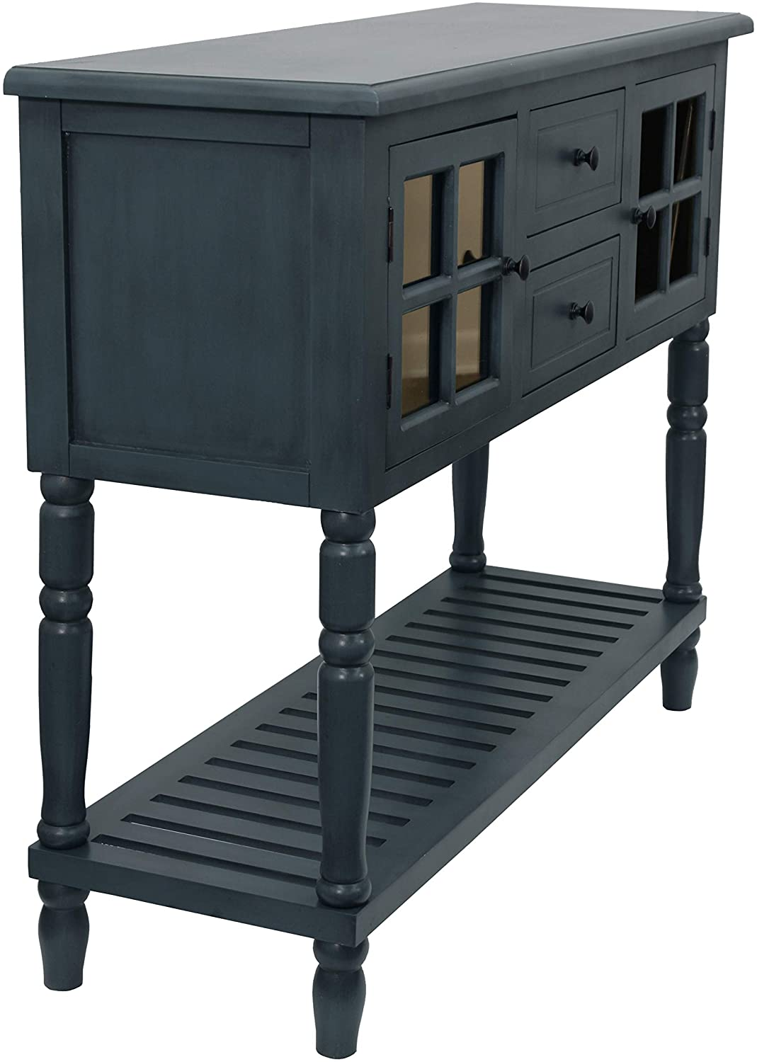 D/écor Therapy Accent Table Antique Navy