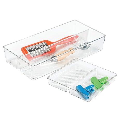 InterDesign - Linus - Organizador de 2 niveles, para cajón; Para guardar cubiertos,