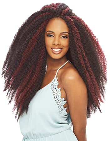 Amazoncom Janet Collection Afro Twist Marley Braid Crochet Hair4