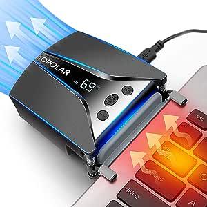 Enfriador Ventilador de Portátil OPOLAR LC06 dispone la pantalla ...