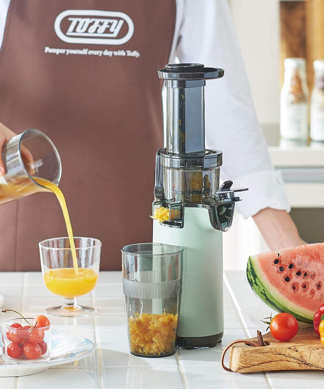【Toffy/トフィー】ミニスロージューサー K-BD4(ペールアクア) 小型 コンパクト フルーツ 野菜 ビタミン 健康習慣 鮮度キープ フレッシュジュース レトロ K-BD4-PA