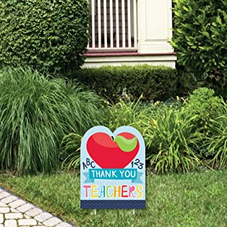 product image for Big Dot of Happiness Thank You Teachers - First and Last Day of School Outdoor Lawn Sign - Teacher Appreciation Yard Sign - 1 Piece