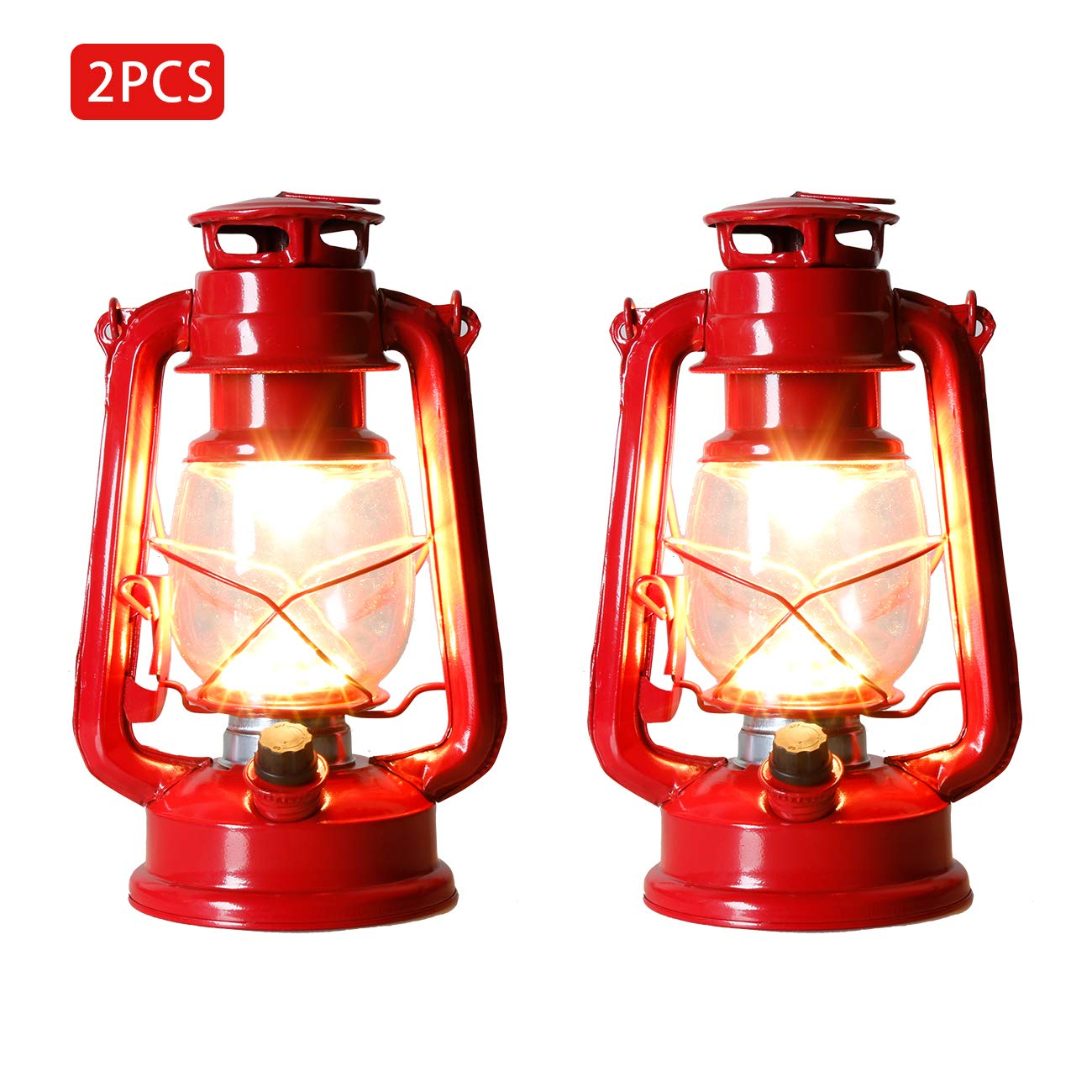 Set of 2-EAMBRITE 9 Inch LED Outdoor Traditional Look Lantern with efficient LED Lighting