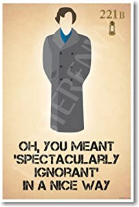Sherlock Holmes - Oh You Meant - New Humor Poster