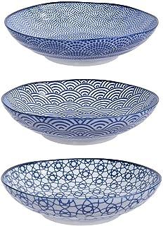Tokyo Design Studio, Nippon Floral Blue, Set of 4 Bowls, 4