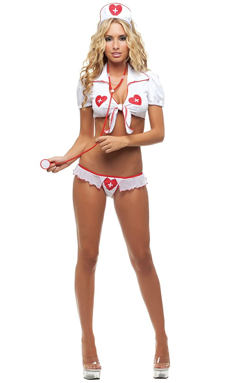 Amazon.com: Starline Womenu0027s Sweet Heart Nurse Sexy Bedroom Costume:  Clothing
