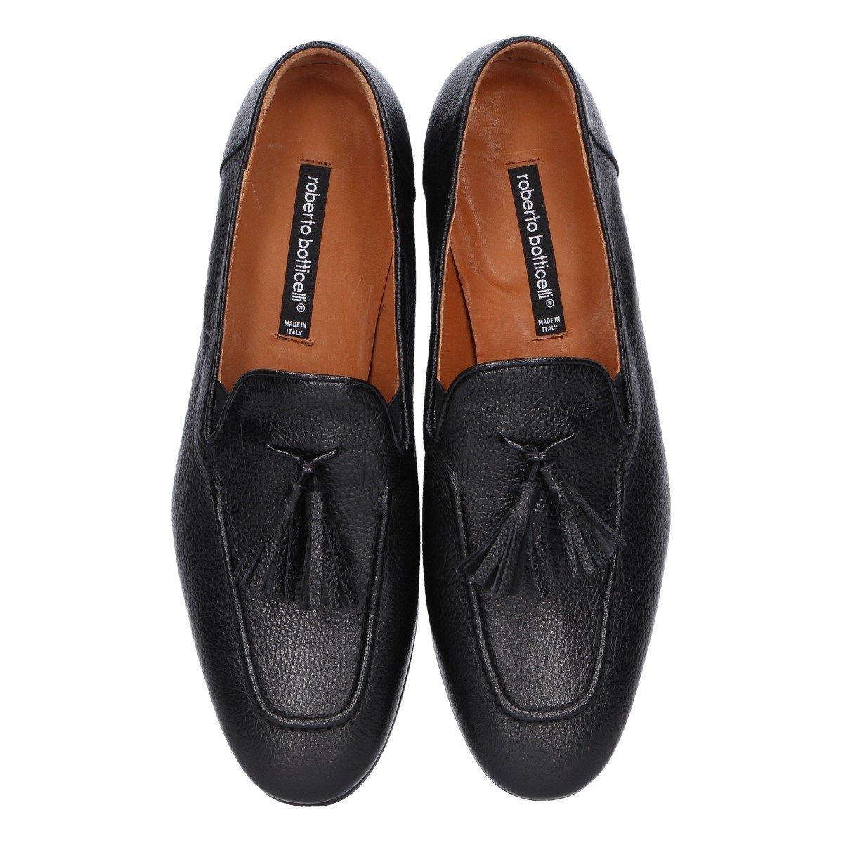 Roberto Botticelli - Mocasines de Otra Piel para Hombre Negro Negro, Color Negro, Talla 41.5: Amazon.es: Zapatos y complementos