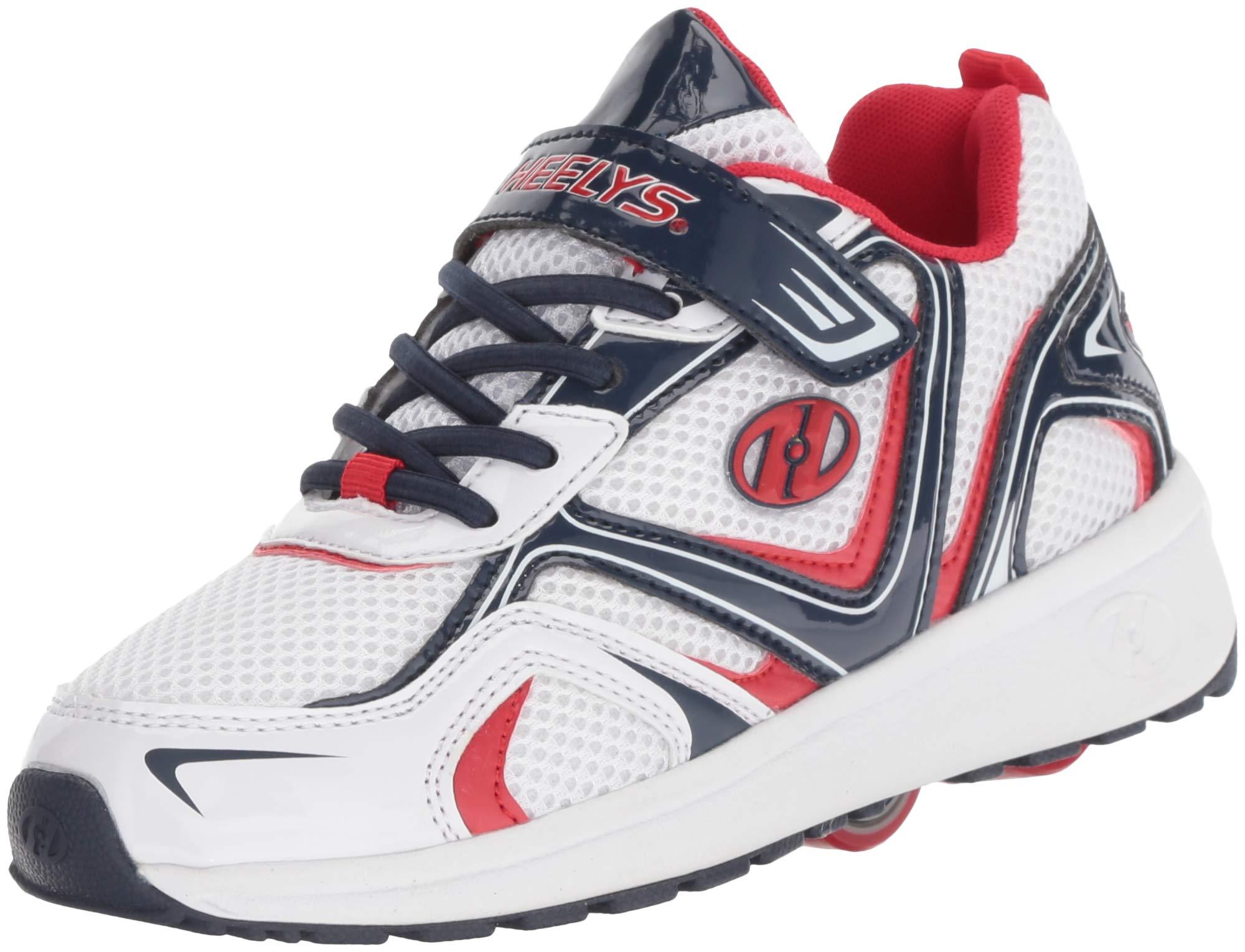 Heelys Boys' Rise X2 Tennis Shoe, White/Black/red, 2 M US Little Kid
