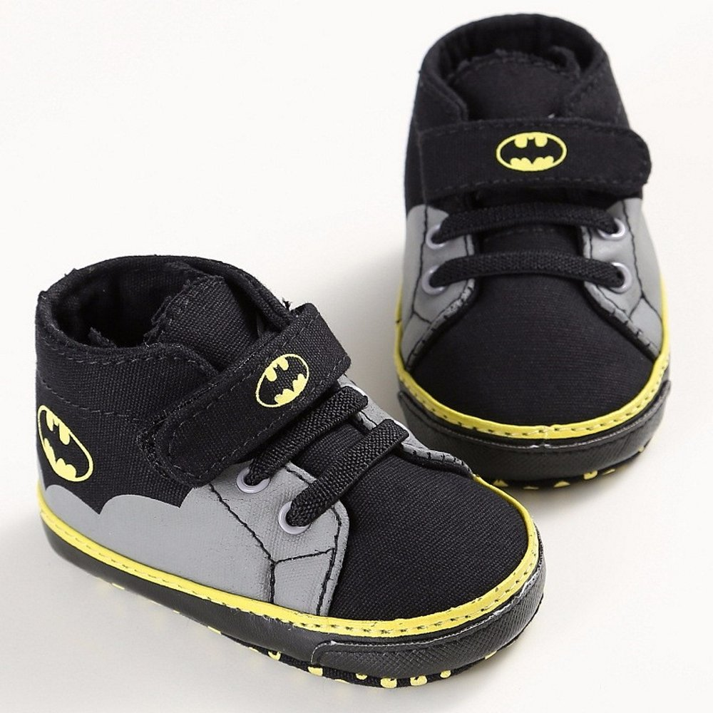 Amazon.com  Baby Shoes Boys Girls Toddler Cartoon Batman Canvas Kids  Footwear Casual Sneakers Crib Babe First Walkers (black 11c1d86c44ca