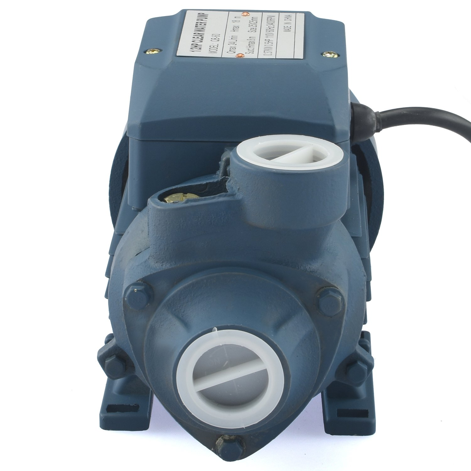 Tooluxe 50635 Electric Centrifugal Clear Water Pump, 0.5 HP | Pools, Ponds, Irrigation, Garden, Sprinkling | 380 GPH by Tooluxe (Image #2)